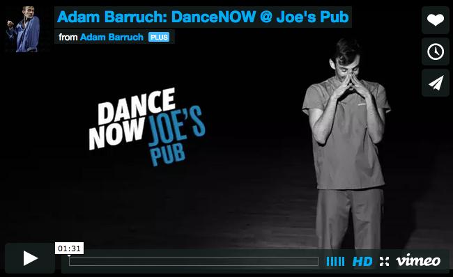My Name is ADAM | Adam Barruch Dance at Joe's Pub