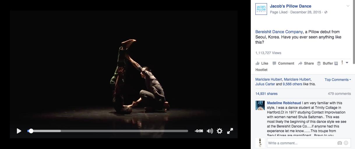 Dance Video Case Study: Jacob's Pillow's Astronomical Reach with Bereishit Dance