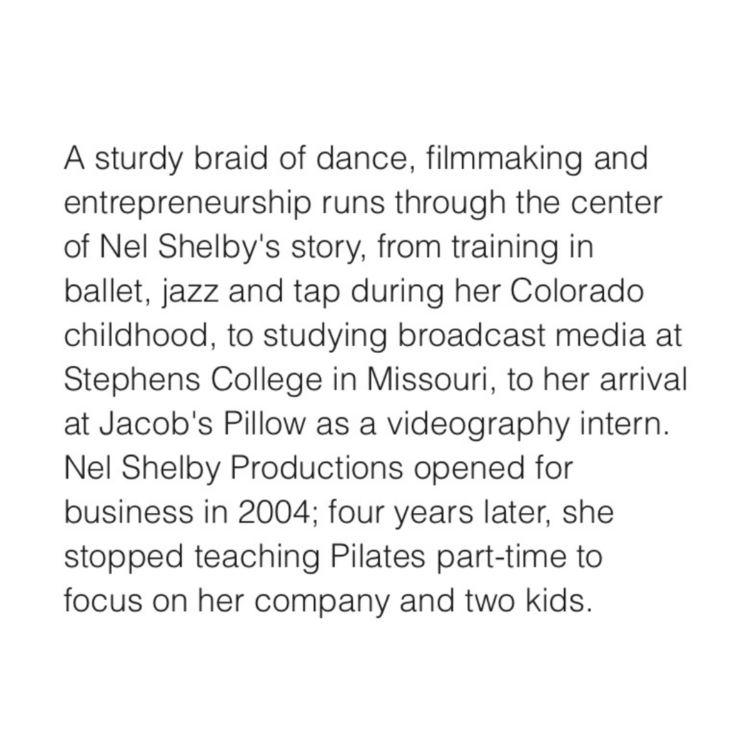 Nel Shelby Productions; Dance Magazine's 30 Over 30 Feature